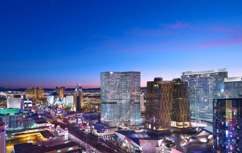Vue sur Las Vegas depuis notre chambre au Mandarin Oriental