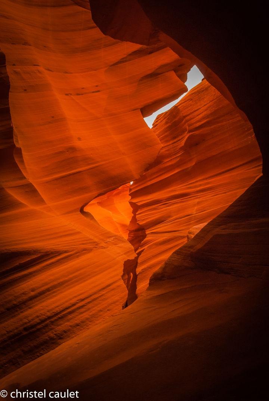 Road-trip USA - roche taillée et ciselée - Antelope Canyon
