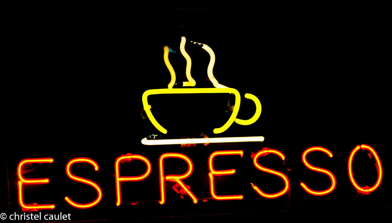 Un panneau Espresso au USA