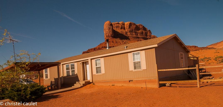La maison des Navajos qui nous ont hébergés