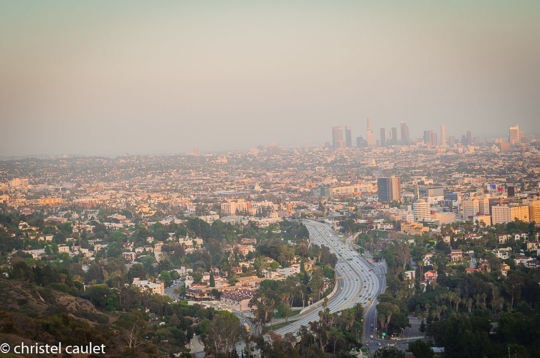 Road-trip USA - vue panoramique sur Los Angeles