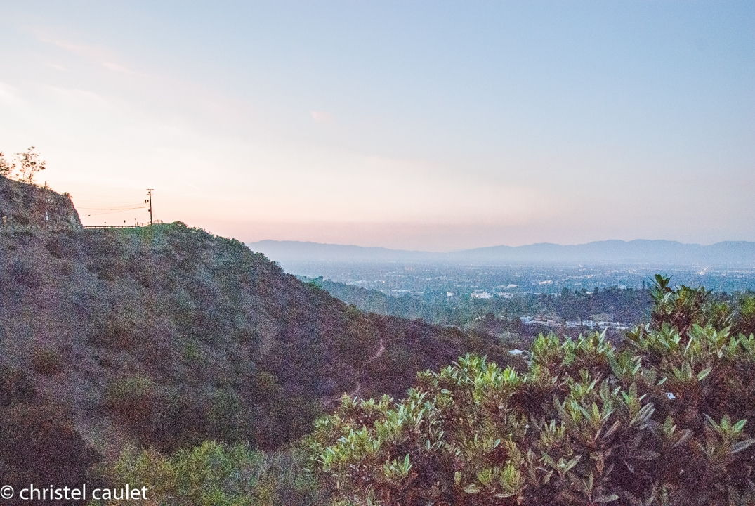 Road-trip USA - Coucher de soleil - Mulholland Drive - Los Angeles