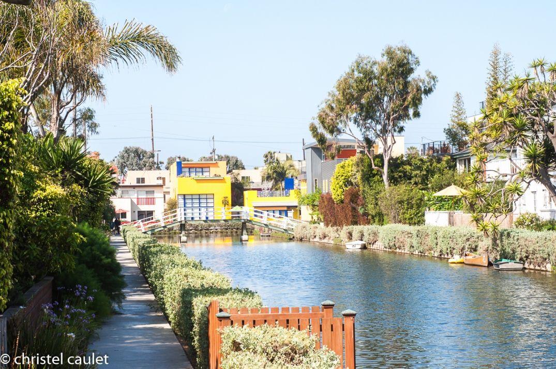 Les canaux à Venice Beach à Los Angeles