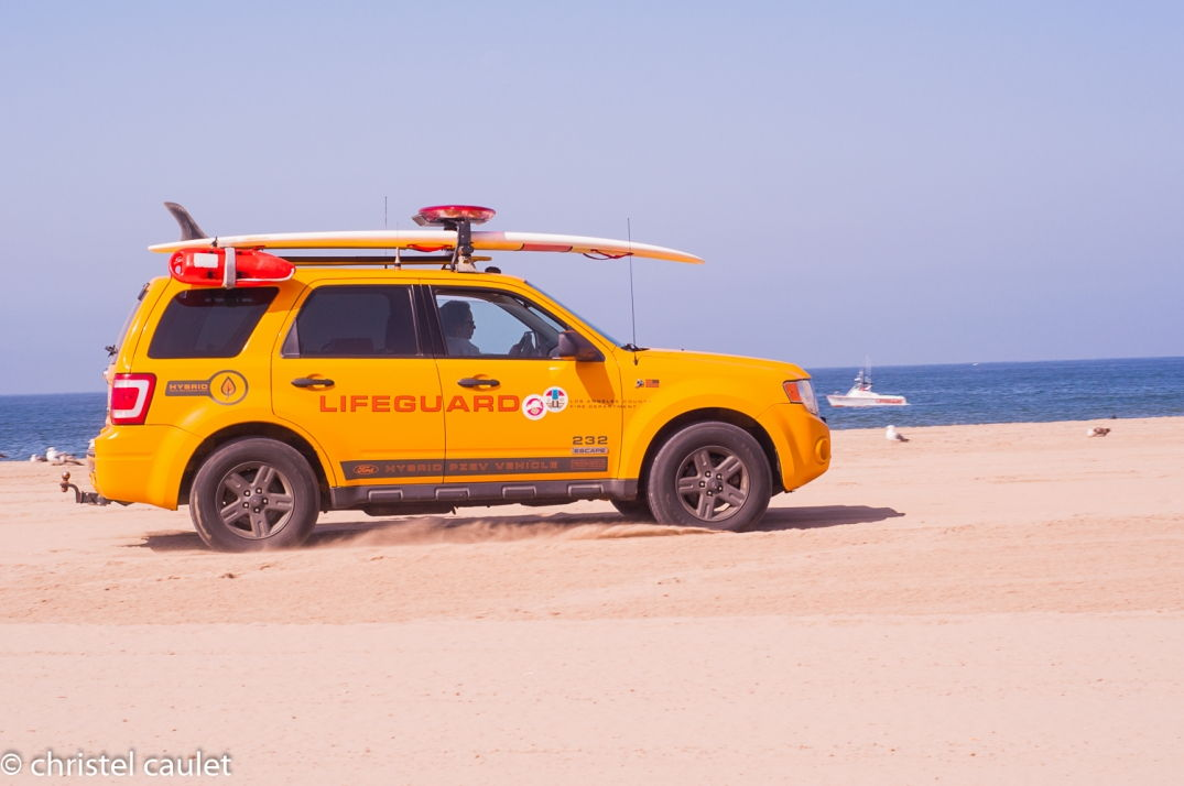 Les lifeguards sur la plage à Venice Beach