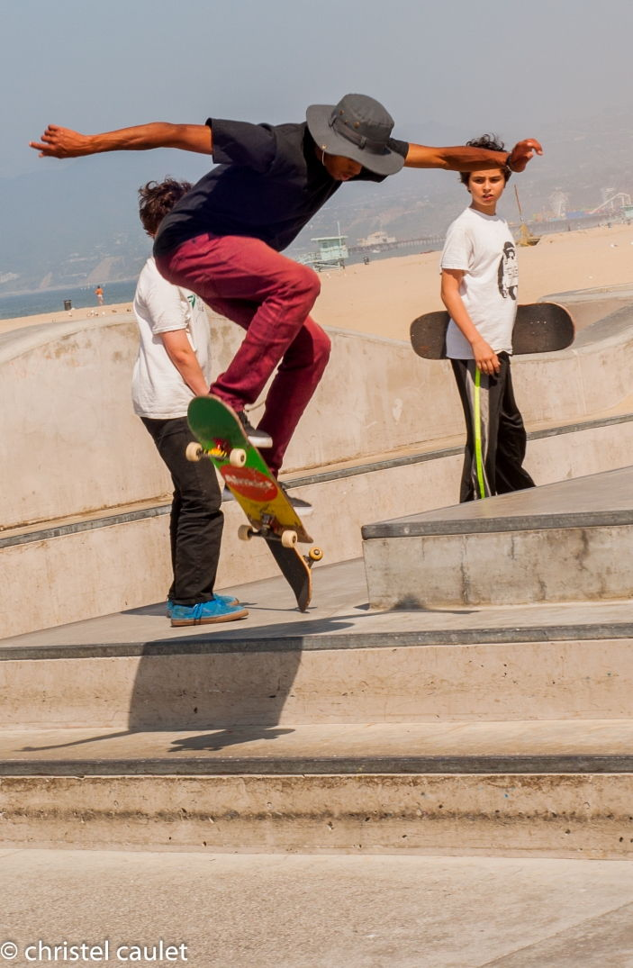 Skateur à Venice Beach à Los Angeles