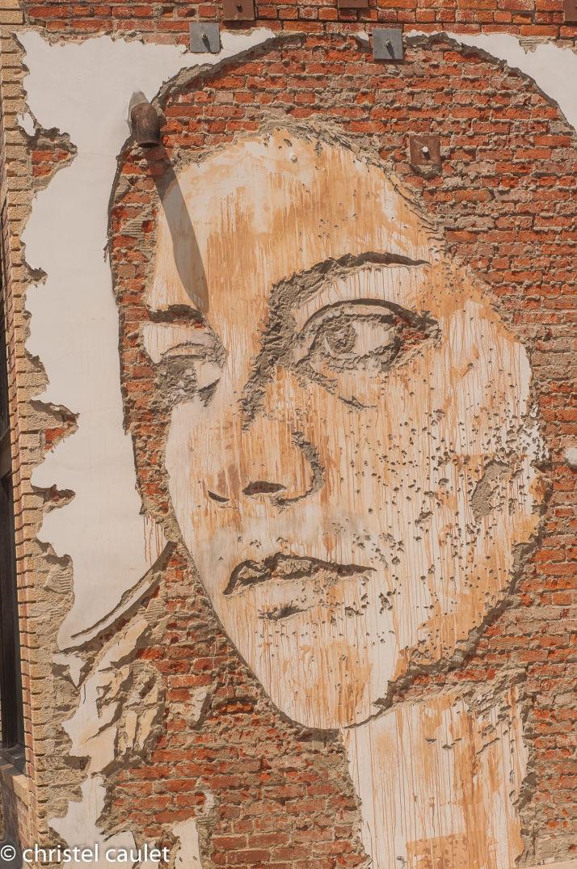 Œuvre d'art dans les rues à Venice Beach à Los Angeles