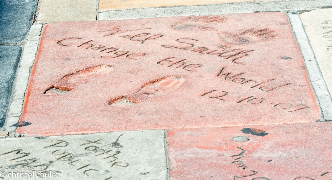 Road-trip USA -signature star - Le Walk of Fame à Los Angeles