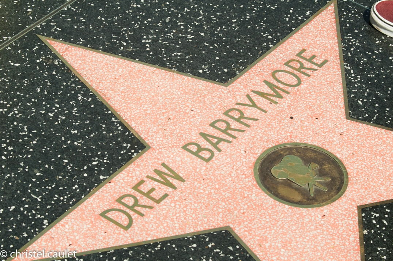 Road-trip USA-étoile de Drew Barrymore - Walk of Fame à Los Angeles
