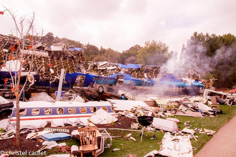 Road-trip USA-Le décor d'un crash d'avion - Universal City à Los Angeles