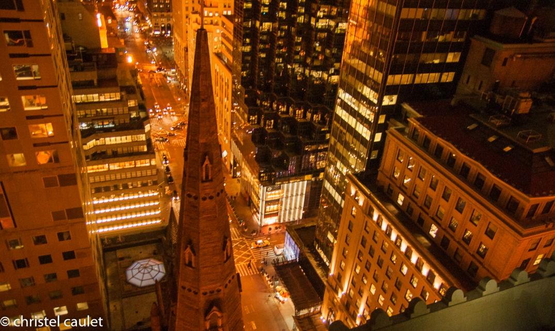Du haut de notre roof-top bar... New York s'étale devant nous