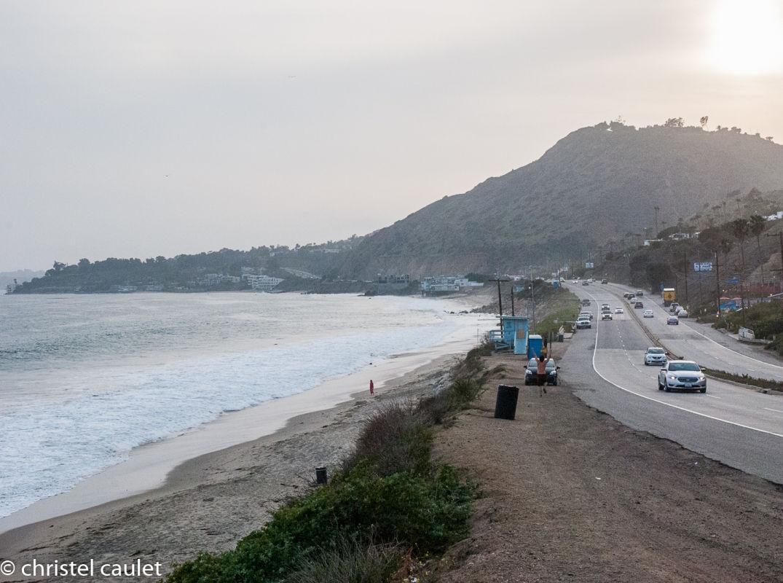 Roadtrip USA -La route longe la plage à Malibu