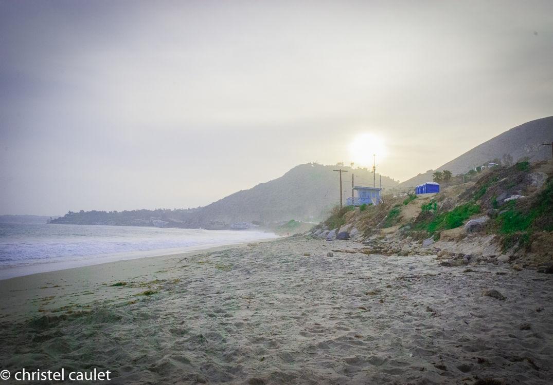 Roadtrip USA -Soleil couchant à Malibu Beach