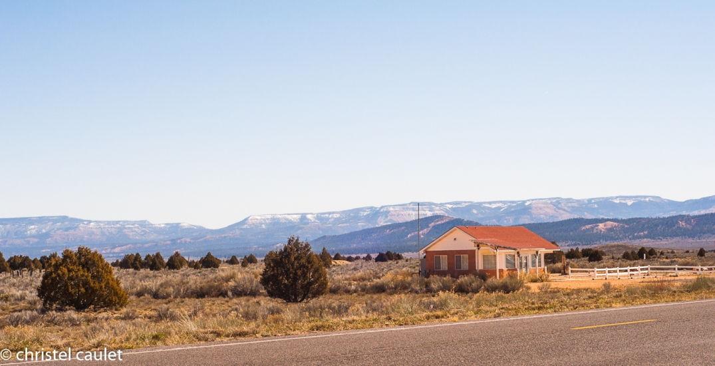 Des maisons près du Zion Canyon