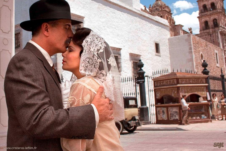 Scène de mariage dans le film Cristéros