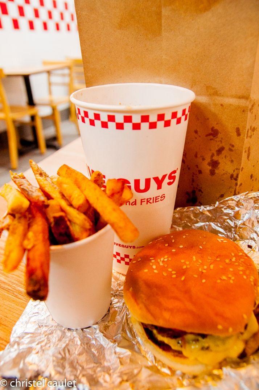 Pause diner au 5 Guys à New York sur la 5th avenue