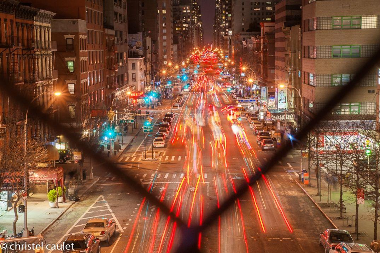 Défilé de lumières dans New-York lors d'une virée nocturne