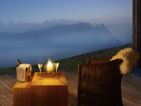 La vue imprenable du Mountain lodge