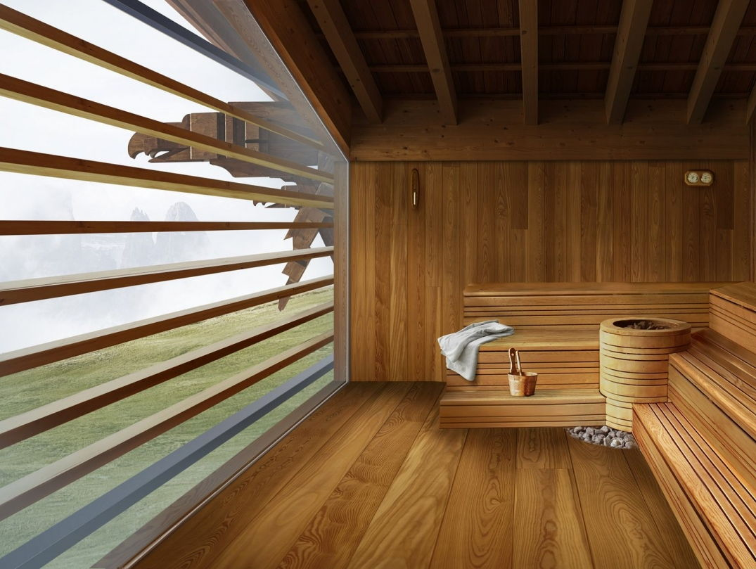 Le sauna du Mountain Lodge