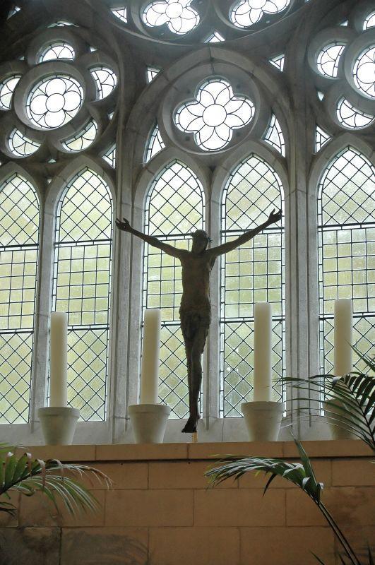 Dans l'abbaye du Château de Kylemore en Irlande