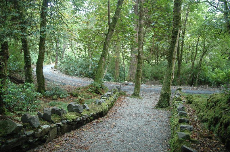Dans le parc du Château de Kylemore en Irlande