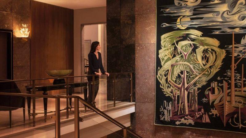 Œuvres d'art dans les espaces communs de l'hôtel