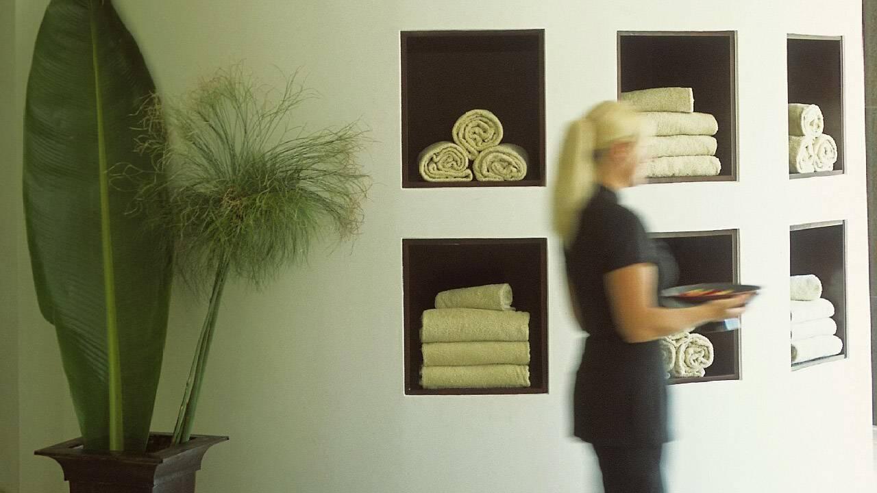 Déco des vestiaires du spa du Four seasons Ritz à Lisbonne