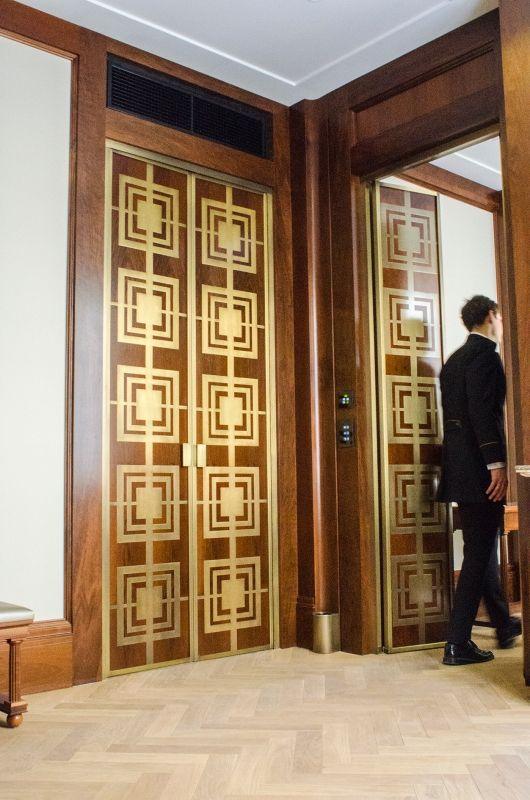 Des portes très travaillées au Park Hyatt à Vienne