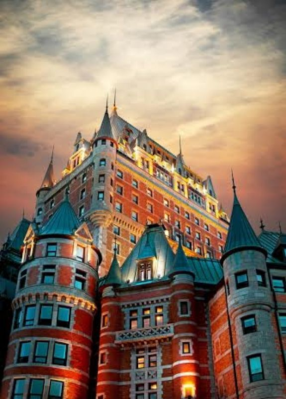 La façade de l'hôtel Fairmont Le Château Frontenac à Québec