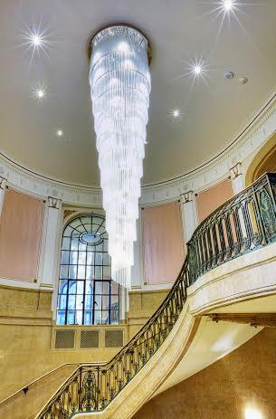 L'escalier de l'hôtel Fairmont Le Château Frontenac à Québec