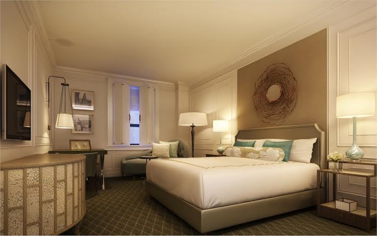 Une des chambres confortables de l'hôtel Fairmont le Château Frontenac à Québec
