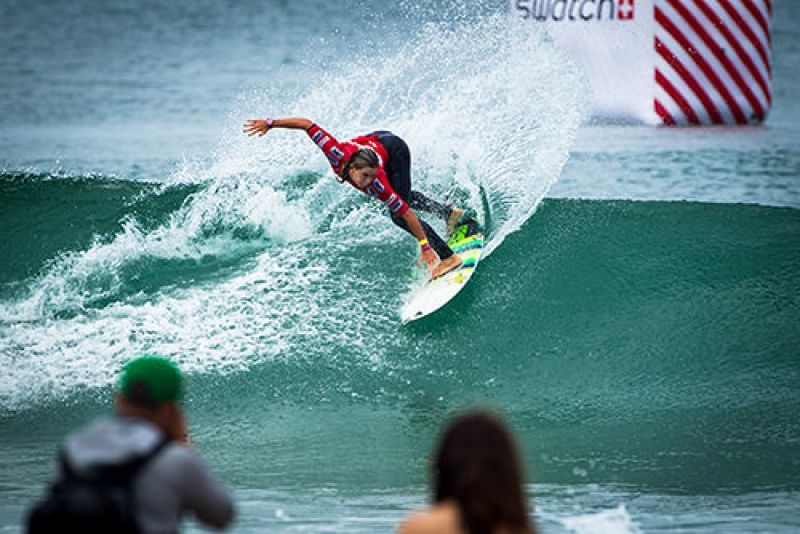 Compétition à ce Swatch Girls pro France