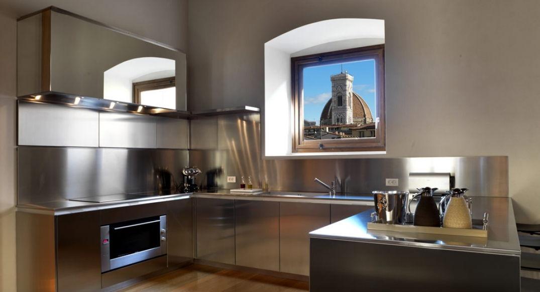 La cuisine du Palazzo Tornabuoni dans Florence