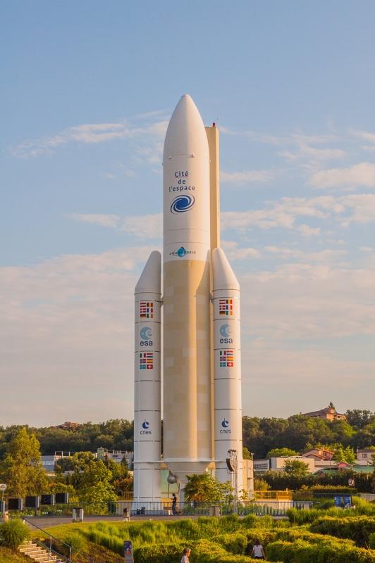 La fusée exposée à la Cité de l'Espace à Toulouse