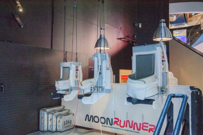Moon runner attraction de l'exposition de la Cité de l'Espace à Toulouse