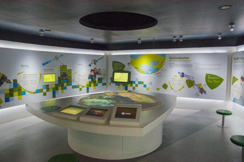 Une des salles de la nouvelle exposition à la Cité de l'Espace
