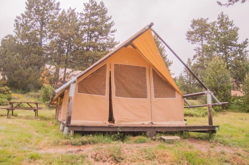 La tente Huttopia pour camper écolo