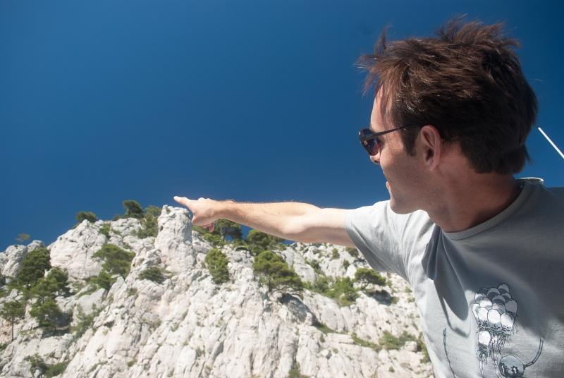 Des falaises impressionnantes dans les Calanques de Marseille !
