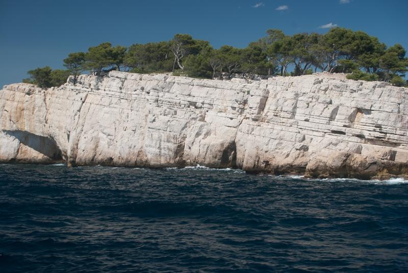 Le blanc des falaises des calanques de Marseille