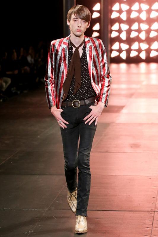 Veste rayures Yves saint Laurent