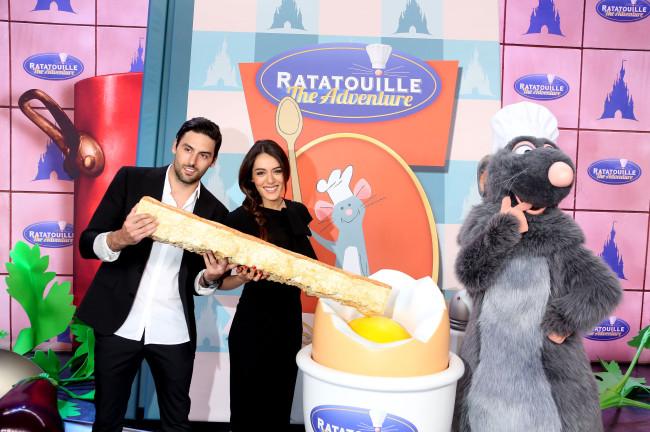 Des personnalités étaient présentes pour inaugurer l'attraction Ratatouille à Eurodisney