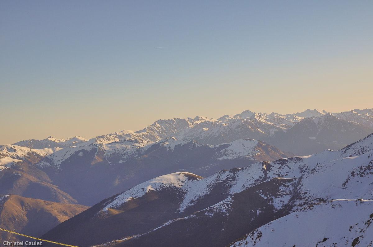 Vue sur les montagnes de Peyragude