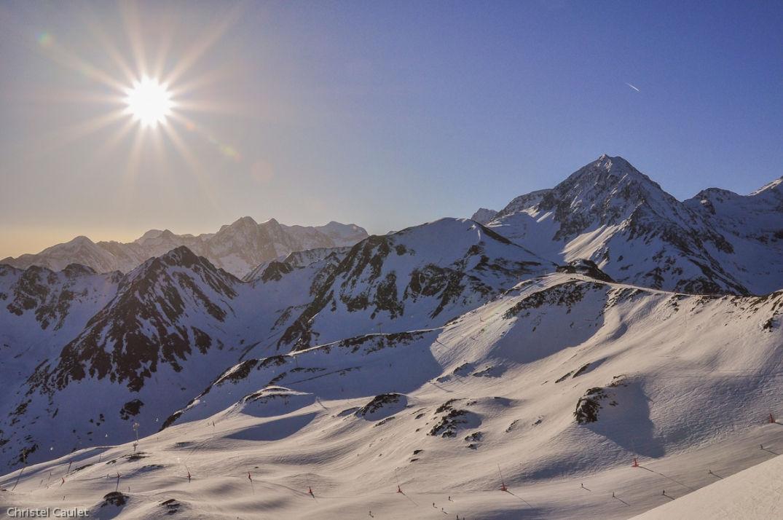 Les pistes de skis balisés de Peyragude