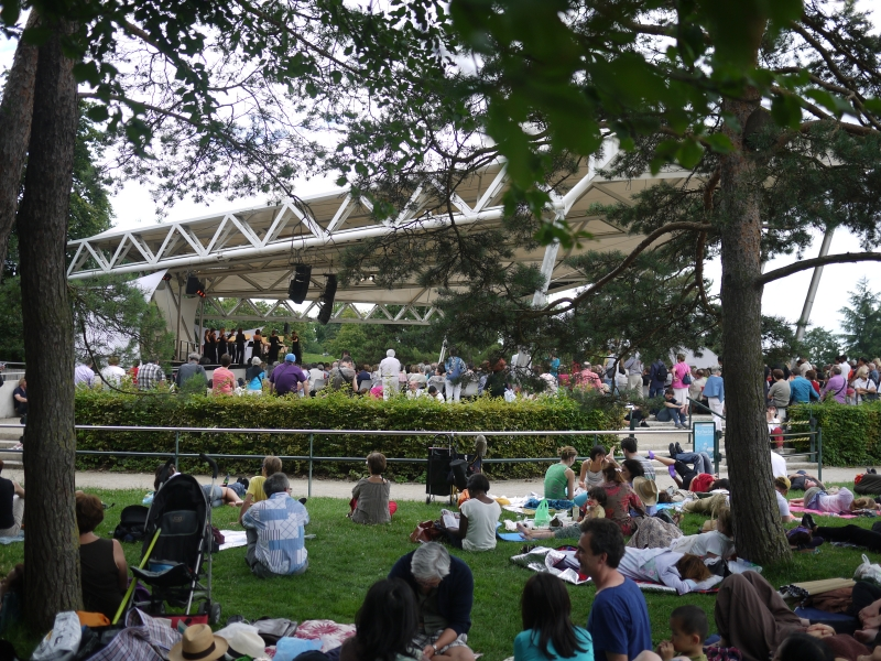 Dans les jardins du Festival CLASSIQUE au vert 2014 à Paris