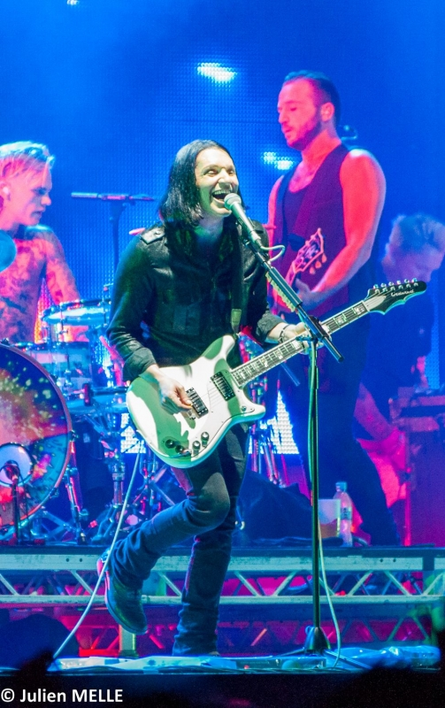 Le chanteur guitariste de Placebo au Big Festival