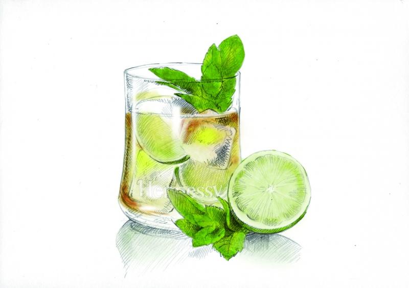 Avec un zeste de citron pour dupliquer les saveurs du Hennessy Cognac