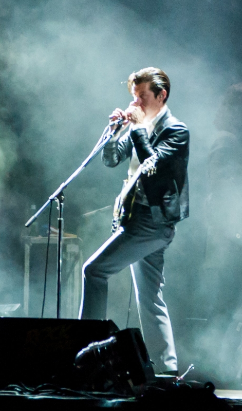 Alex Turner des Artics Monkeys sur la scène de Rock en Seine