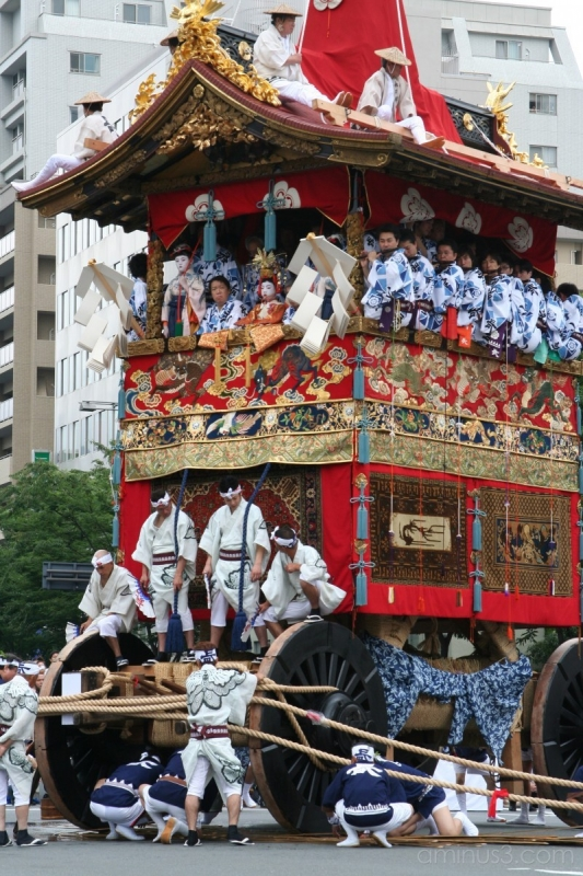 Une cérémonie grandiose à GIon Matsuri au Japon