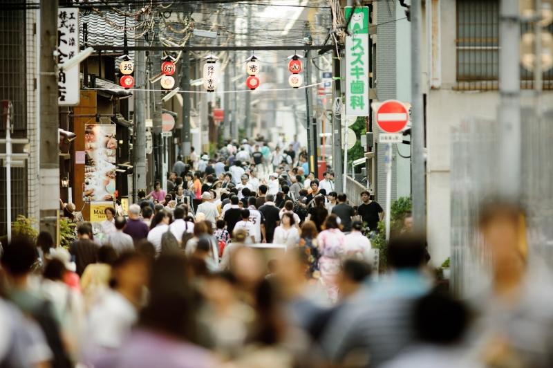 Du monde présent pour ce festival au Japon