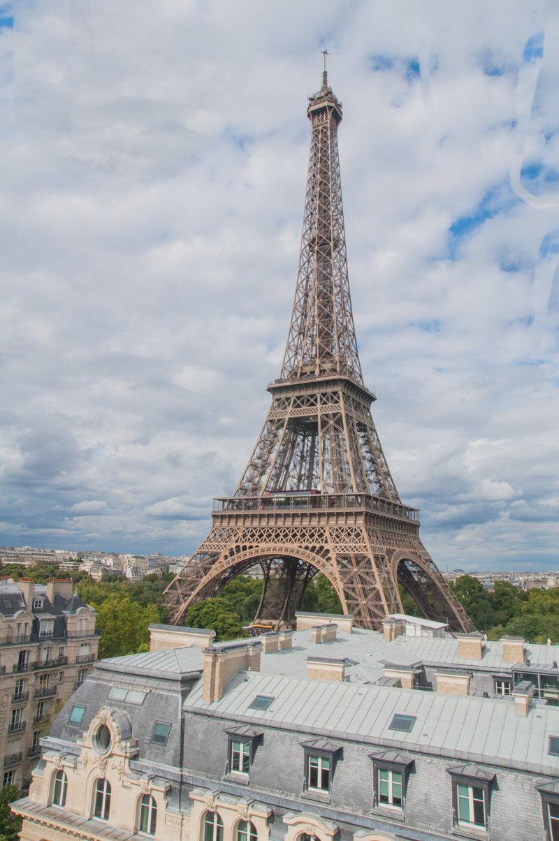 La Tour Eiffel depuis l'Hôtel Pullman à Paris