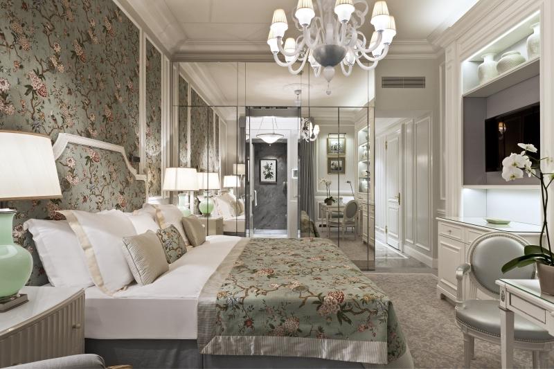 La suite présidentielle de l'hôtel Beau Rivage à Lausanne